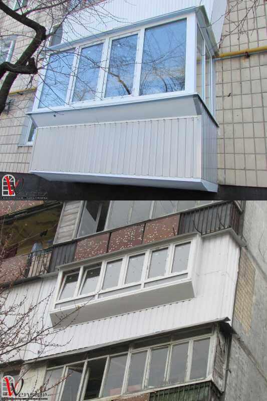 Обшивка балкона снаружи.